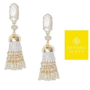 NWT Kendra Scott Dove Tassel Earrings